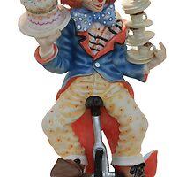 Clown cycling by Peter Davies