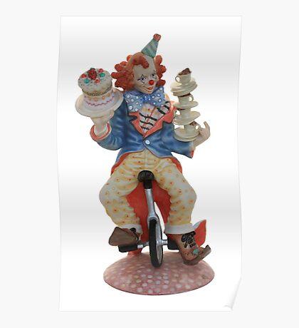 Clown cycling Poster