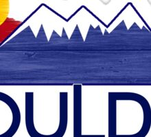 Boulder Colorado wood mountains Sticker