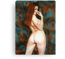 Red-haired Beauty - Dangerous Look Canvas Print