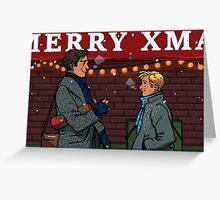 Merry Christmas, punk Greeting Card