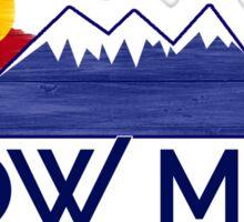 Bow Mar Colorado wood mountains Sticker