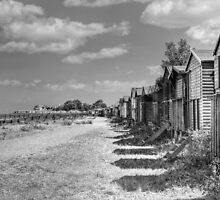 Whitstable Huts by Dave Godden
