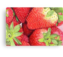 Strawberries in Coloured Pencil Canvas Print