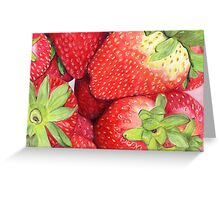 Strawberries in Coloured Pencil Greeting Card