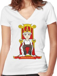 Moriarty is our King Women's Fitted V-Neck T-Shirt