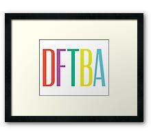 DFTBA 2.0 Framed Print