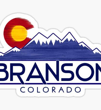 Branson Colorado wood mountains Sticker
