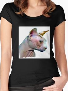 Cat silhouette Women's Fitted Scoop T-Shirt