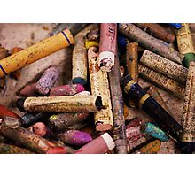 His Colourful Materials Photographic Print