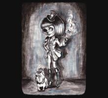 Miss Terri Riddles - Big eyed gothic investigateur extraordinaire!  Baby Tee