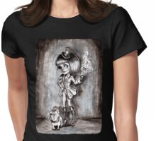 Miss Terri Riddles - Big eyed gothic investigateur extraordinaire!  Womens Fitted T-Shirt
