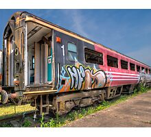 HDR Train carriage  Photographic Print