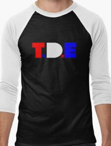 TDE TOP DAWG RED WHITE BLUE USA FOURTH OF JULY Men's Baseball ¾ T-Shirt