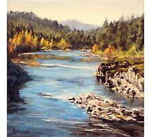 Colliding Rivers Fall Photographic Print