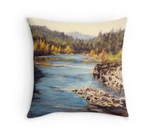 Colliding Rivers Fall Throw Pillow