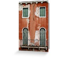 windows of Venice 6 Greeting Card