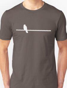 Bird on a Wire (white) Unisex T-Shirt