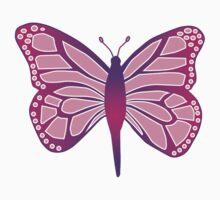 Butterfly Purple One Piece - Long Sleeve