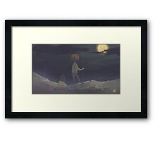 A Patch of Trouble Framed Print