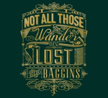 Tolkien Typography - Gold by MiniMoose