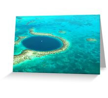 The Great Blue Hole Greeting Card