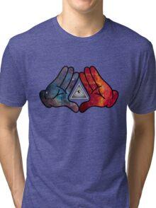 Space Illuminati Hands Diamond Tri-blend T-Shirt