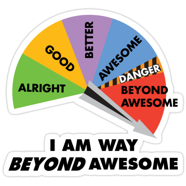 Way Beyond Awesome by DetourShirts