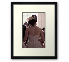 The bride is waiting Framed Print