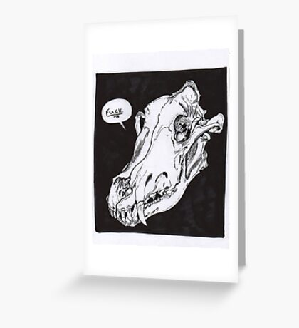 Wolf Skull Greeting Card