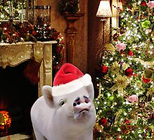 • ★ *˚ .ღ WILBERS CHRISTMAS~~ I'M ENJOYING MY EGGNOG~~``` WISHING U ALL AN OINK OF A CHRISTMAS• ★ *˚ .ღ  by ╰⊰✿ℒᵒᶹᵉ Bonita✿⊱╮ Lalonde✿⊱╮