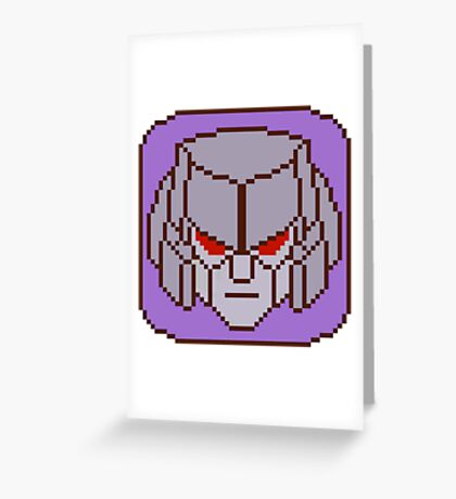 Pixel Megatron Greeting Card