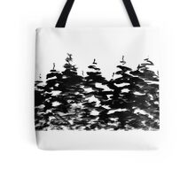Pines Laden with Snow  Tote Bag
