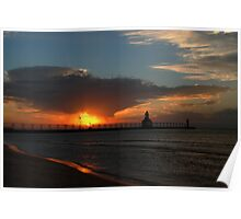 Sunset In South Haven Poster