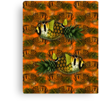 pineapple puffer phish [pppfff!!!] Canvas Print