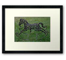 Wrought Iron Rocking Horse Framed Print