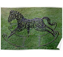 Wrought Iron Rocking Horse Poster