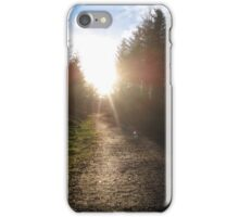 Sunset on Crag Path iPhone Case/Skin