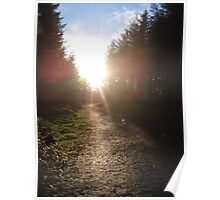 Sunset on Crag Path Poster
