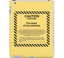 Caution. iPad Case/Skin