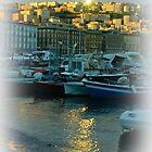 Sundown at the port of Mergellina / Naples / Italy by Rachel Veser
