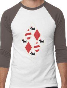 Scottie Dog Christmas Pattern Men's Baseball ¾ T-Shirt