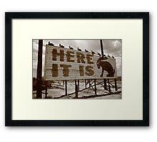 Route 66 - Jack Rabbit Trading Post Framed Print