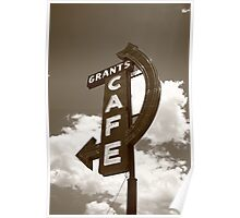 Route 66 - Grants Cafe Poster
