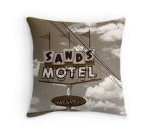 Route 66 - Sands Motel Throw Pillow