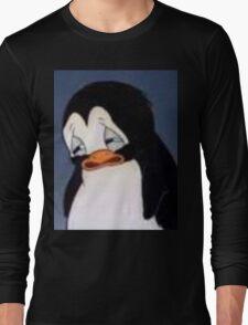 sad penguin Long Sleeve T-Shirt