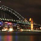 Sydney Harbour Bridge at Night by Kezzarama