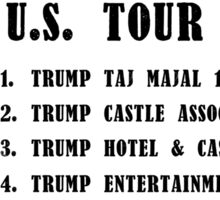Donald Trump for President 2016 - Bankruptcy Tour Sticker