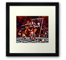 Madness in the Hatter's Realm Framed Print