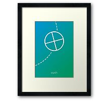 Minimalist Earth Framed Print